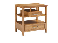 Chelsea Square Storage Nightstand - French Toast