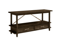 Chelsea Square Low Bookcase - Raisin