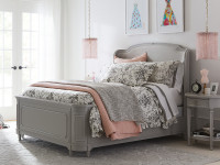 Clementine Court Upholstered Panel Shelter Bed Queen - Spoon