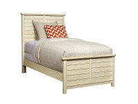 Driftwood Park Panel Bed Twin - Vanilla Oak