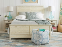 Driftwood Park Panel Bed Queen - Vanilla Oak