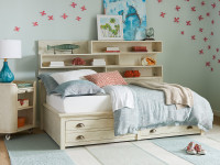 Driftwood Park Storage Bed Twin - Vanilla Oak