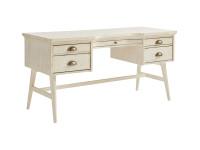 Driftwood Park Pedestal Desk - Vanilla Oak