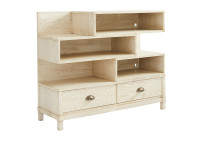 Driftwood Park Low Bookcase - Vanilla Oak