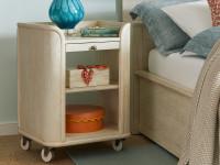 Driftwood Park Bedside Storage Table - Vanilla Oak