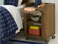 Driftwood Park Bedside Storage Table - Sunflower Seed