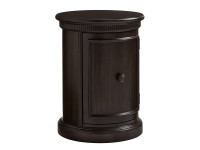 Smiling Hill Bedside Drum Table - Licorice