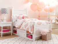 Smiling Hill Panel Bed Twin - Marshmallow