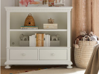 Smiling Hill Low Bookcase - Marshmallow