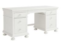 Smiling Hill Pedestal Desk - Marshmallow