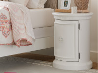 Smiling Hill Bedside Drum Table - Marshmallow