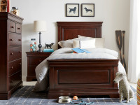 Teaberry Lane Panel Bed Twin - Midnight Cherry
