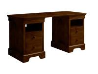 Teaberry Lane Partners Desk - Midnight Cherry