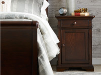 Teaberry Lane Bedside Cabinet - Midnight Cherry