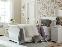 Teaberry Lane Sleigh Bed Twin - Stardust