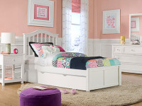 Valley 2.0 Arch Spindle Bed w/Low Footboard, Twin