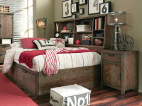 Sullivan County Bookcase Bed, Full