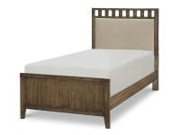 Bradley Upholstered Slat Bed, Twin