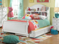 "Shown in Full Size with Optional 40"" deep Storage/Trundle. Use it for lots of storage, or remove the inside dividers and put in a twin size  mattress for sleep overs. Special financing available.*"