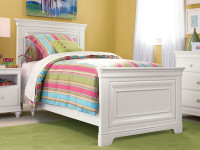 Taylor Panel Bed - White