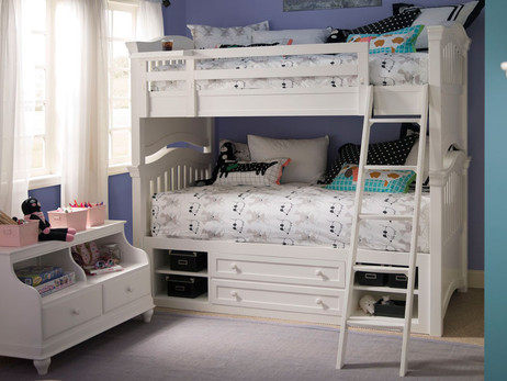 Taylor Bunk Bed - White - Bedroom Source