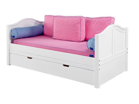 Twin Size In White With Curved Ends Pictured Optional Under Bed Trundle And Side