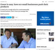 Article about us in the Sydney Morning Herald..