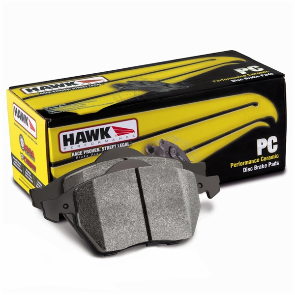 Hawk 06-10 VW Touareg Front / 09-11 Corvette Z06/ZR-1 (w/Carbon Ceramic Brake Package and Iron rotors) Rear Performance Ceramic Street Brake Pads HB632Z.586