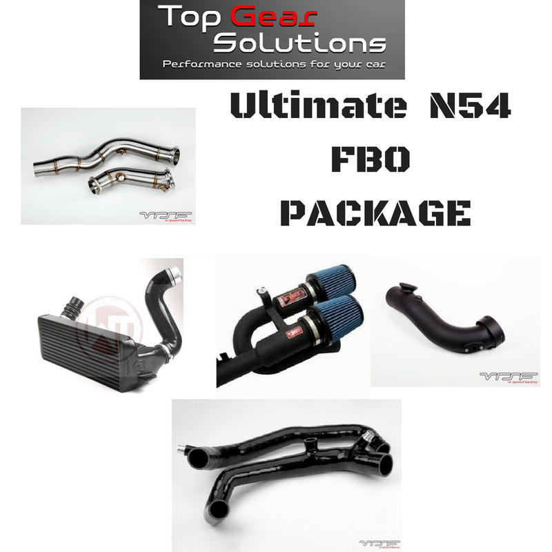 BMS Power Package 10: Ultimate N54 FBO Package Tune Intake Intercooler Downpipe Inlets & More *Free Shipping*