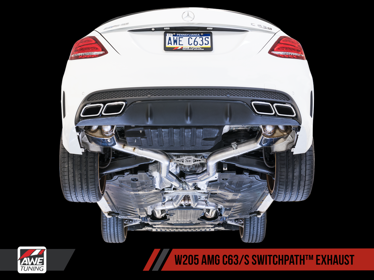 AWE Tuning Mercedes Benz W205 C63 AMG Exhaust