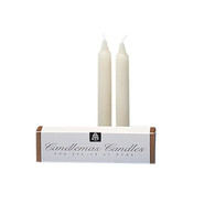 "51% Beeswax, 6"" Candlemas [Pair of 2]"