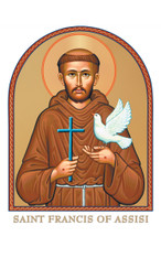 St. Francis of Assisi Icon Decal