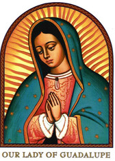 Our Lady of Guadalupe Icon Decal