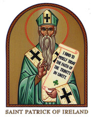 Saint Patrick Icon Decal