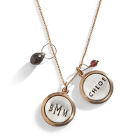 Jet Set Personalized Charm Necklace