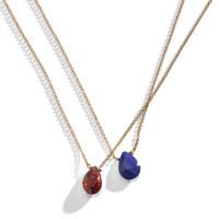 Floating Gemstone Delicate Layering Necklace