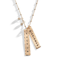 Bollywood Yellow Gold Personalized Long Necklace