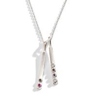 Minimalist Modern Birthstone Bar Necklace