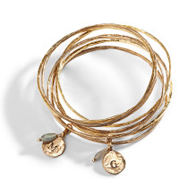 Cairo Personalized Bangle in Golden Bronze.