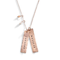 Enchantress Rose Gold Personalized Long Necklace