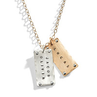 Jaxson Riveted Dog Tag Necklace