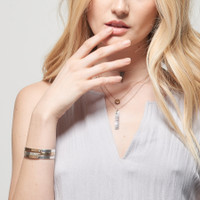Jett Multi-Metal Riveted Cuff Bracelet
