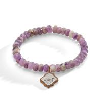 Aster Purple Amethyst Personalized Bracelet