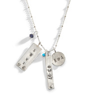 Chelsea Industrial Personalized Tag Necklace in Sterling Silver.