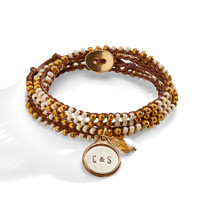 Golden Nile Wrap with Personalized Charm