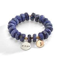 Roskilde Blue Stone and Brass Bracelet