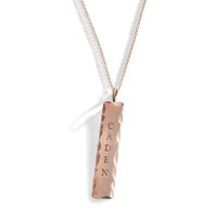 14K Gold Essex Urban Personalized Tag in Rose Gold.