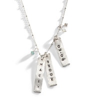 Billie Silver Personalized Long Necklace