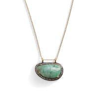Lorelei Raw Cut Stone and Diamond Layering Necklace