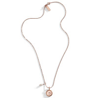 Blush Rose Gold Initial Necklace